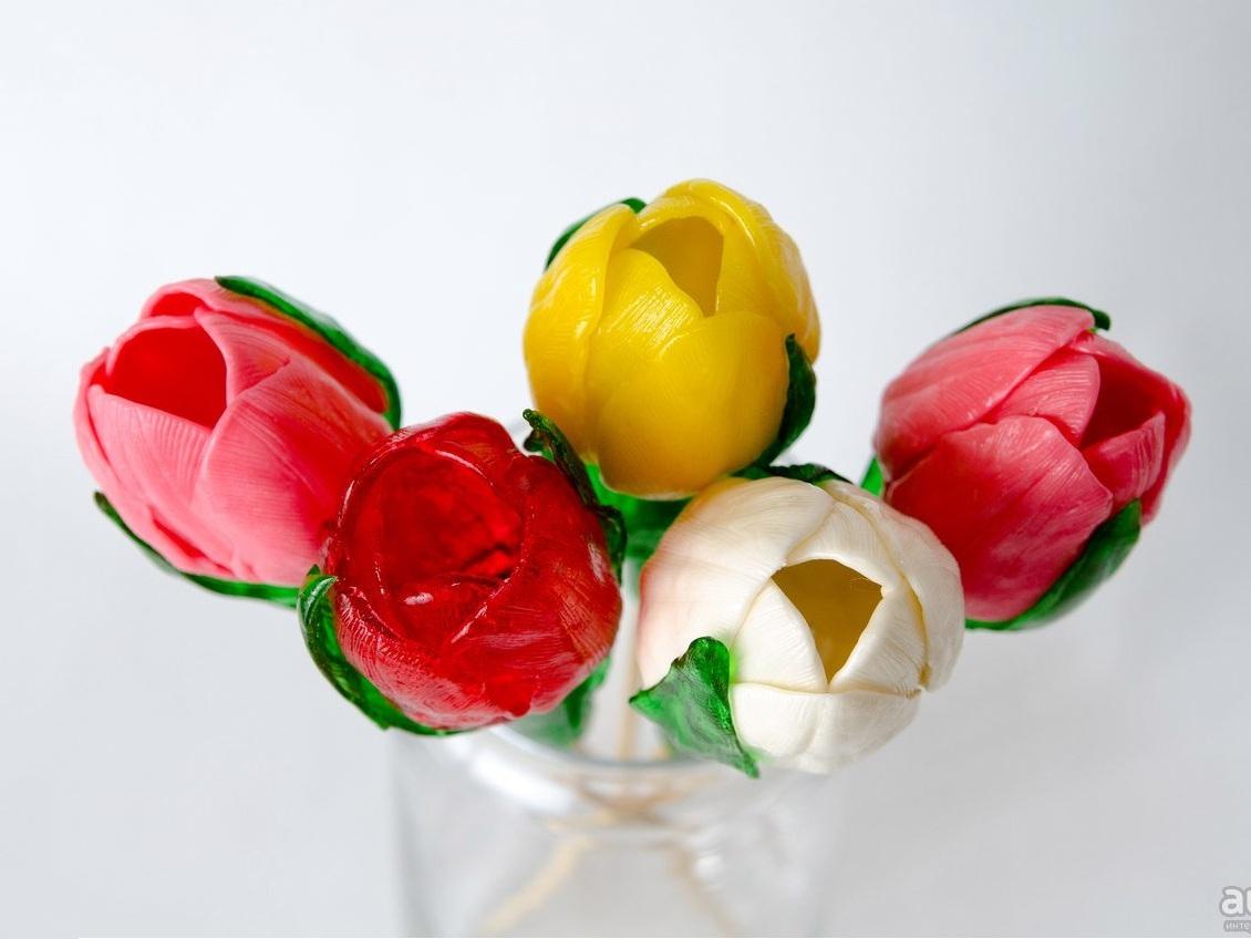 Цветы из карамели купить в москве
